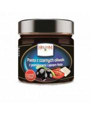 PASTA z czarnych oliwek z pomidorami i serem feta