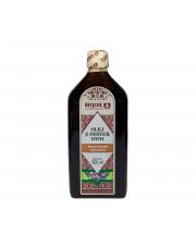 Olej z pestek dyni tłoczony tradycyjnie, nieoczyszczony BIQOIL 0,5L